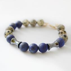 lapis-lazuli-dalmatian-jasper-hematite-bracelet